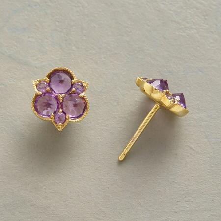 AMETHYST TRILLIUM EARRINGS