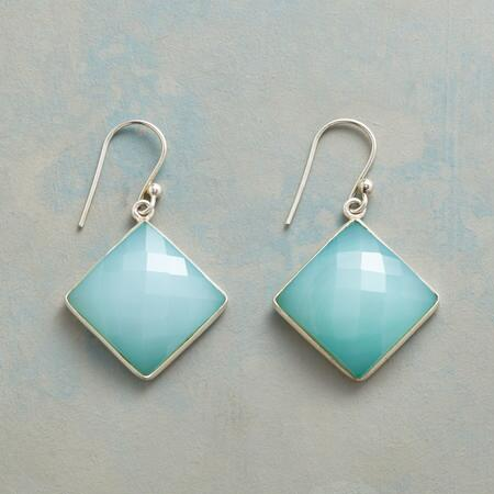 CHECKERED CHALCEDONY EARRINGS