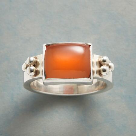 PEACHY MOONSTONE RING