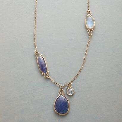 TANZANITE OMEGA NECKLACE