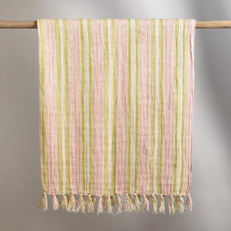 SUNBLEACHED STRIPES THROW