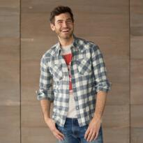 LEVI'S BARSTOW PLAID SHIRT