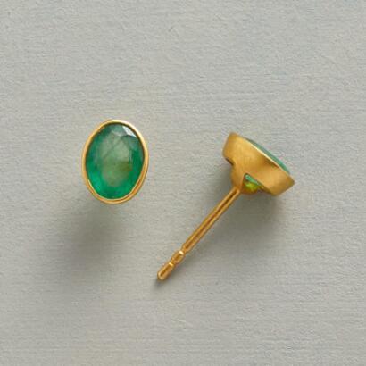 EMERALD ARC EARRINGS