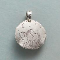 STERLING SILVER MIDNIGHT HORSES CHARM