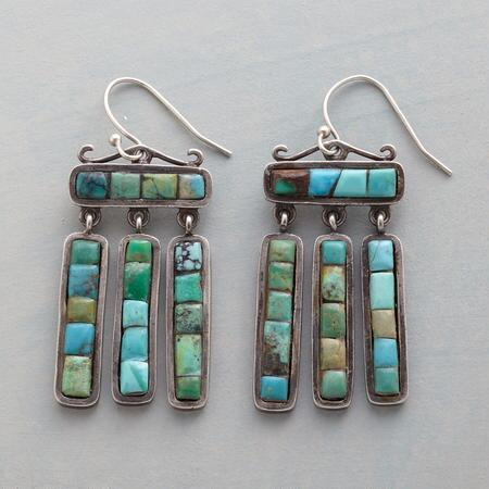 TURQUOISE TILES EARRINGS