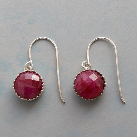 RUBY GUMDROP EARRINGS