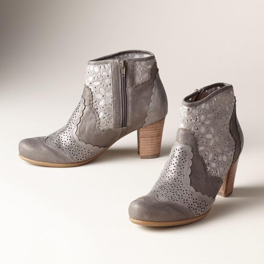 TRACE OF LACE ANKLE BOOTS