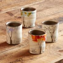 SENTIMENT FOUR SEASONS TREE CUPS