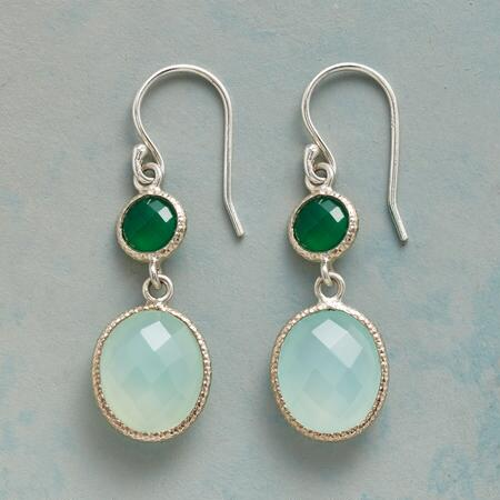 GREEN DUET EARRINGS