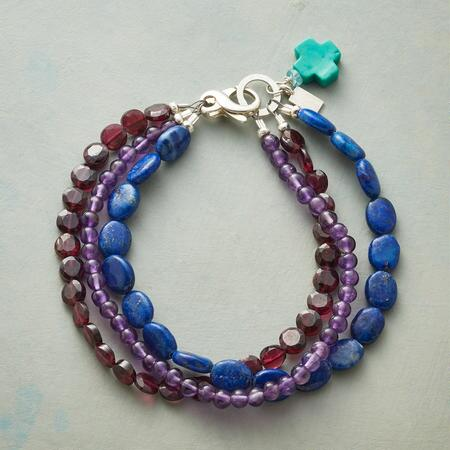 MIDNIGHT CROSSING BRACELET