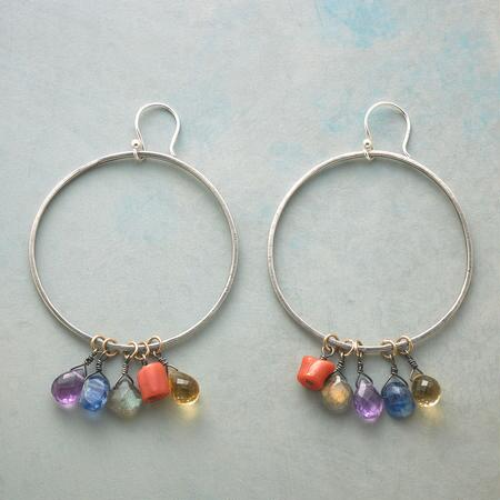 FOREVER FRIENDS HOOP EARRINGS