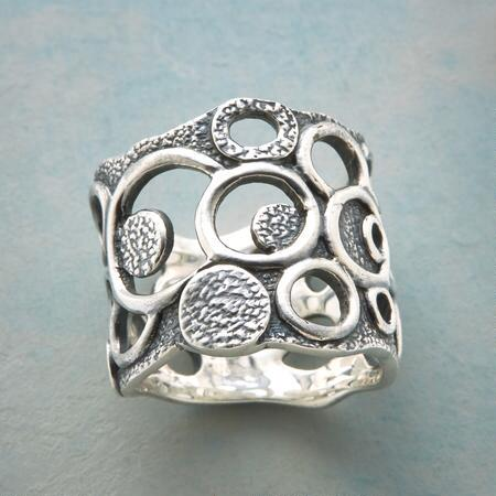 BUBBLY STERLING SILVER RING