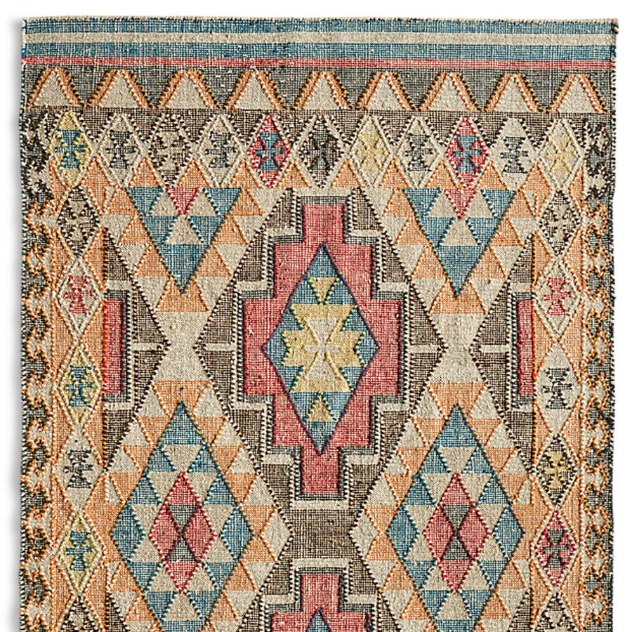 FADED DIAMONDS KILIM RUG, LARGE
