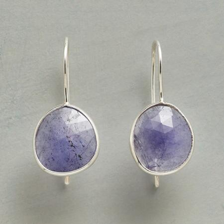 FREEFORM TANZANITE EARRINGS