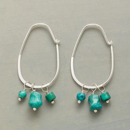 TURQUOISE THREESOME HOOPS
