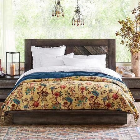 WEATHERED BARNWOOD PLATFORM BED