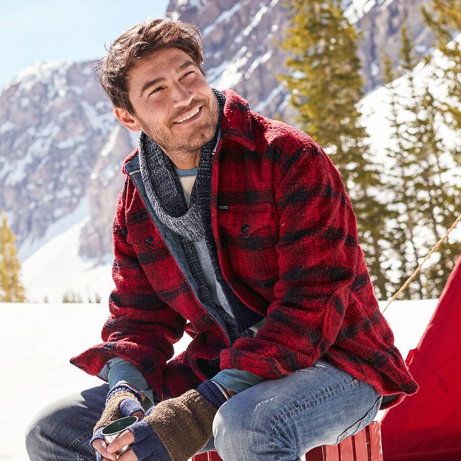 OUTFITTER PLAID SHIRT JACKET