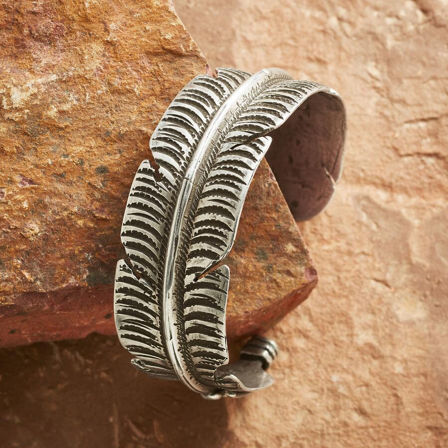 STERLING FEATHER CUFF
