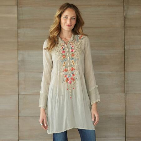RIVER OF BLOSSOMS TUNIC