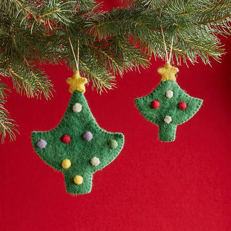 TANNENBAUM ORNAMENTS, SET OF 2