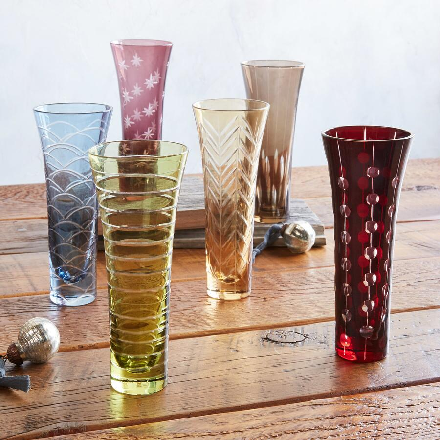 CHEERS CHAMPAGNE FLUTES, SET OF 6