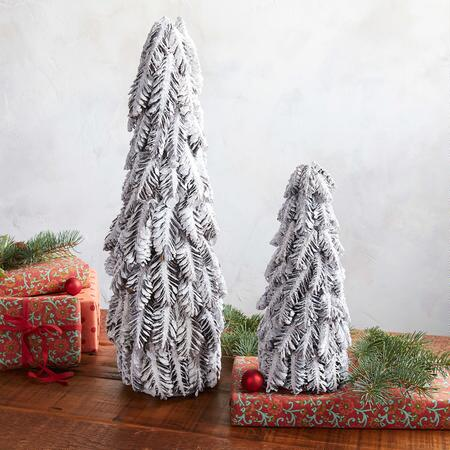 GLISTEN HOLIDAY TREES, SET OF 2