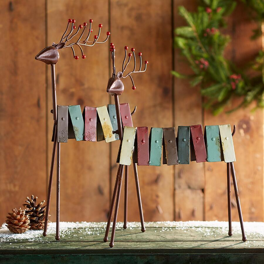RUSTIC REINDEER, SET OF 2