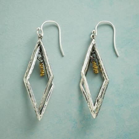 CAGED BRASS EARRINGS