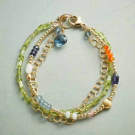 THREE-PART PERIDOT BRACELET