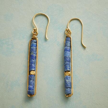 LINEAR LAPIS EARRINGS