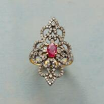 RUBY AND DIAMOND RENAISSANCE RING