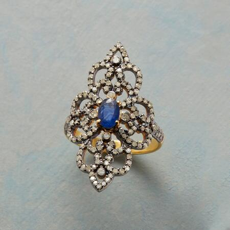 SAPPHIRE AND DIAMOND RENAISSANCE RING
