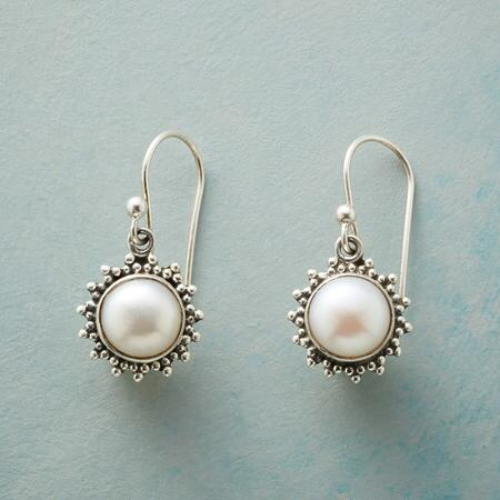 PEARL STARBURST EARRINGS