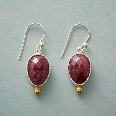 SAWTOOTH RUBY EARRINGS