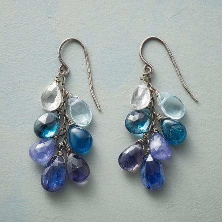 FROTHY BLUE EARRINGS