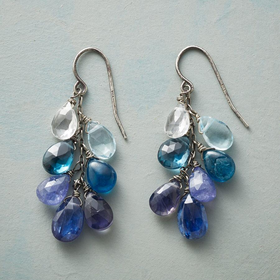 FROTHY BLUE EARRINGS