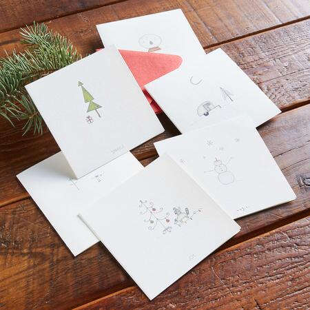 VIGNETTES HOLIDAY CARDS, SET OF 6