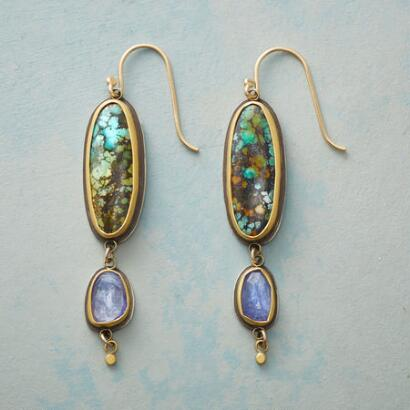 MODERN MIX TURQUOISE EARRINGS