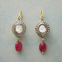 RUBY GENEVA DIAMOND EARRINGS
