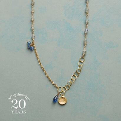 RAINDROPS & BLUEBELLS NECKLACE