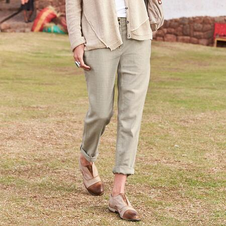 LIGHT STEP LINEN PANTS