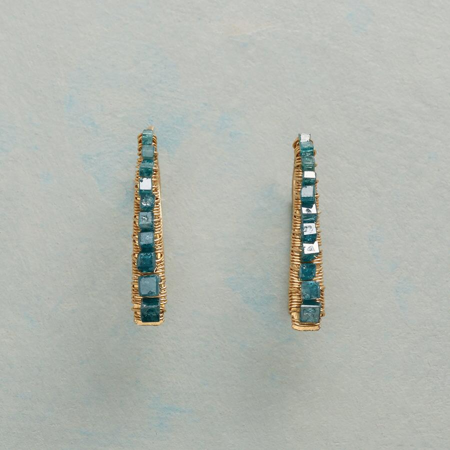 WITH A DIFFERENCE DIAMOND EARRINGS