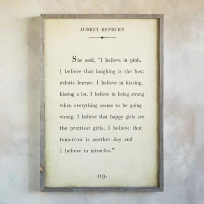 WORDS OF WISDOM PRINT BY AUDREY HEPBURN