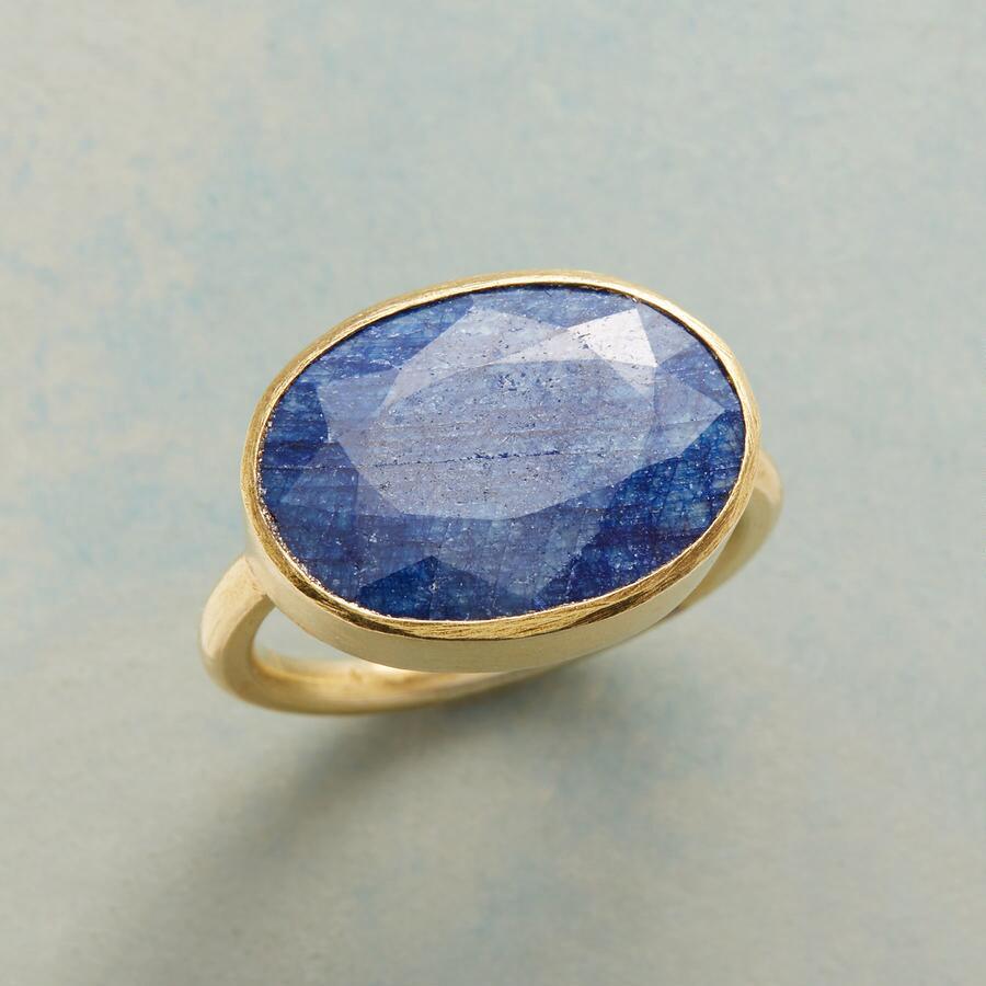 BLUE BRUSHMARK RING