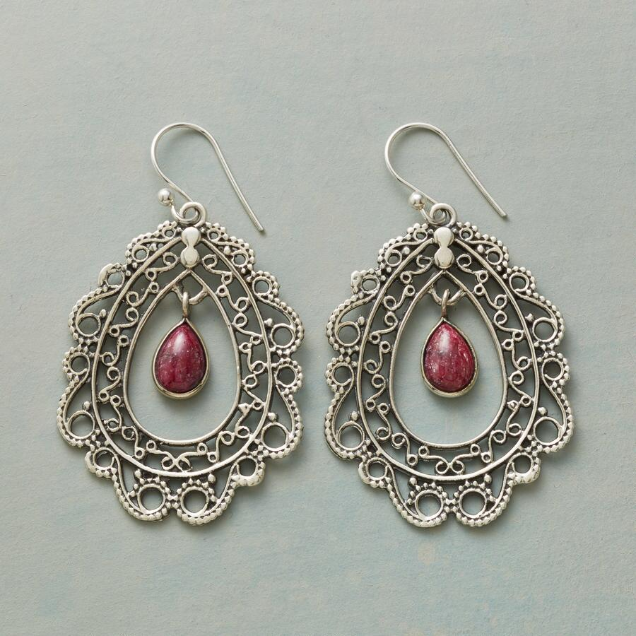 RUBIES & LACE EARRINGS