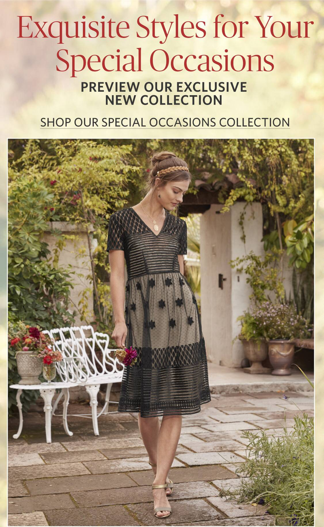 Shop Our Special Occassions Collection