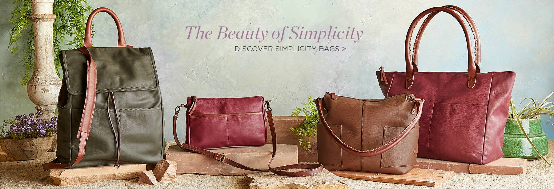 Discover Simplicity Bags