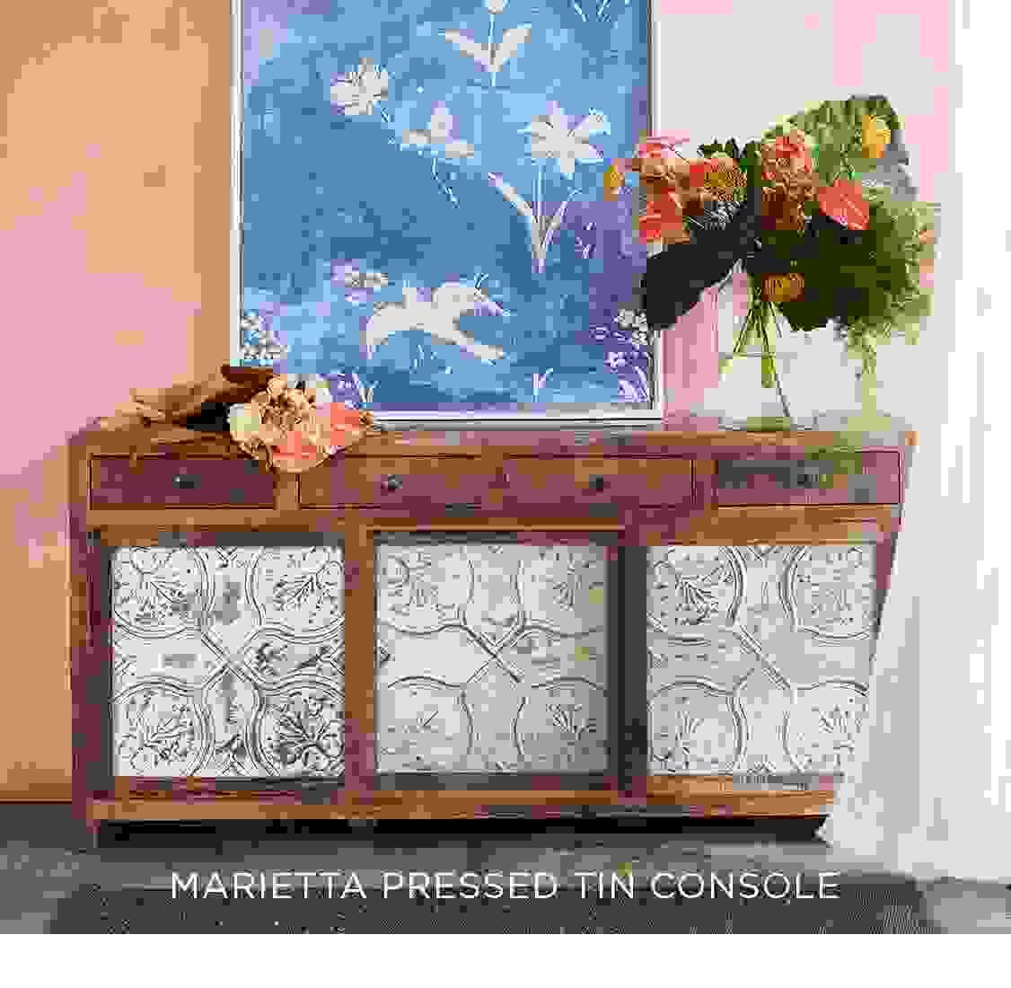 Marietta Pressed Tin Console