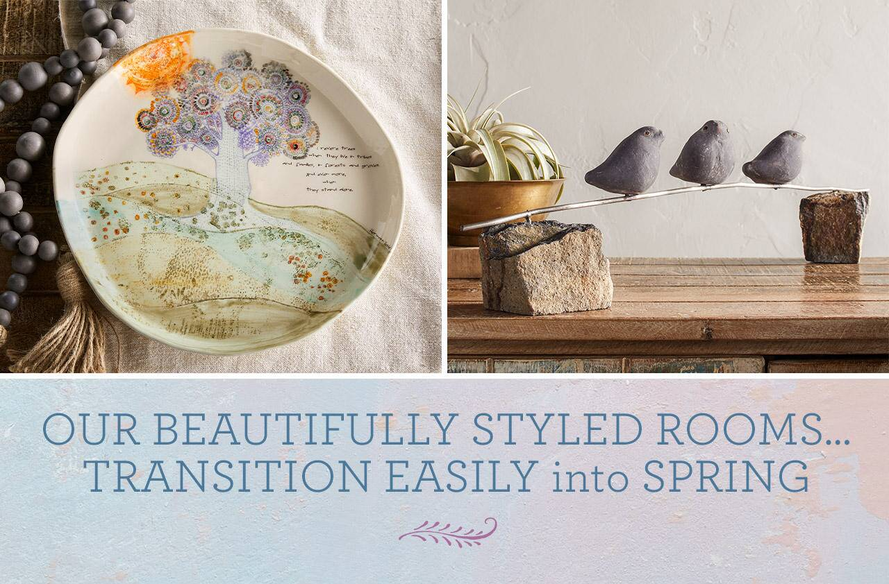 Our Beautifully Styled Rooms Transition Easily into Spring
