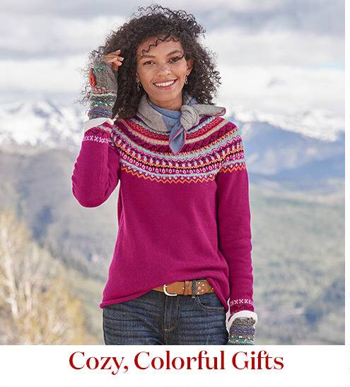 Cozy colorful gifts